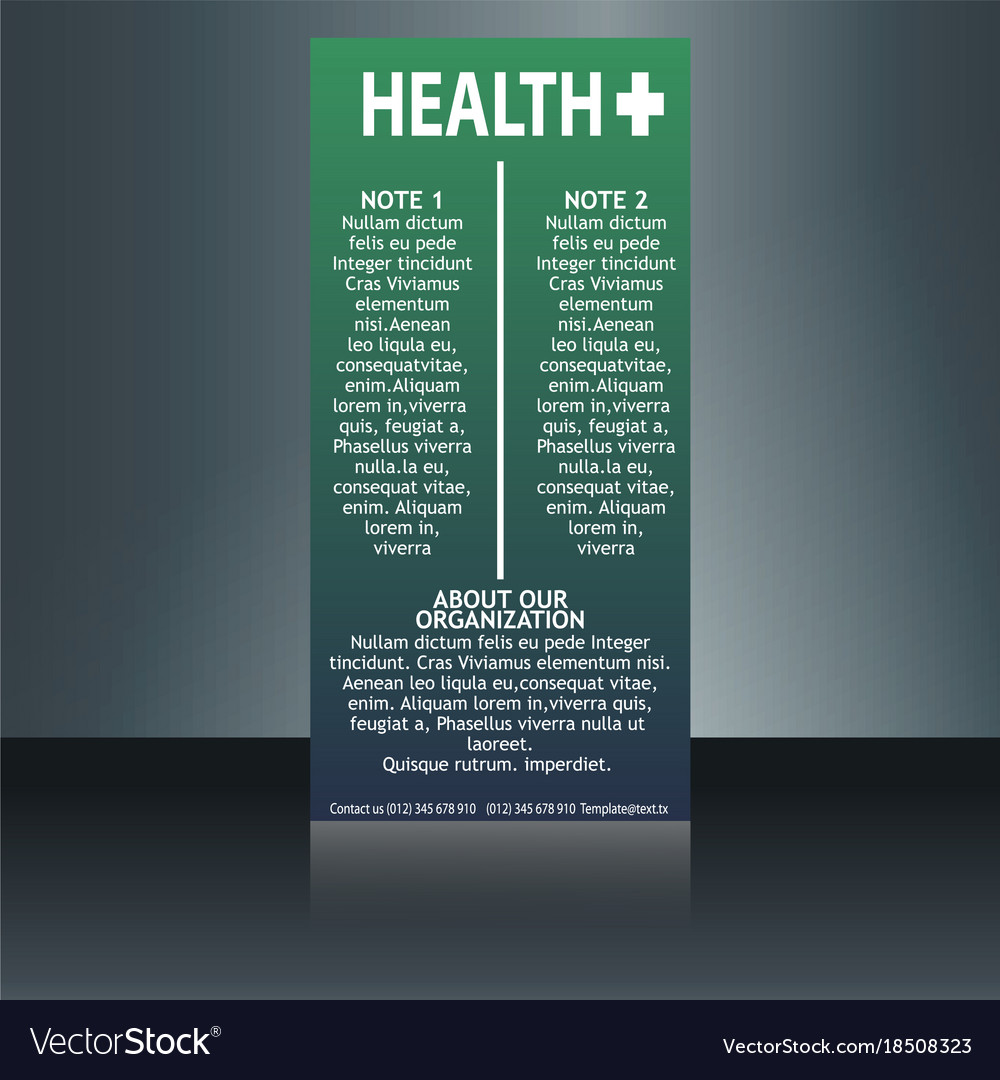 medical brochure flyer design template a4 size vector image