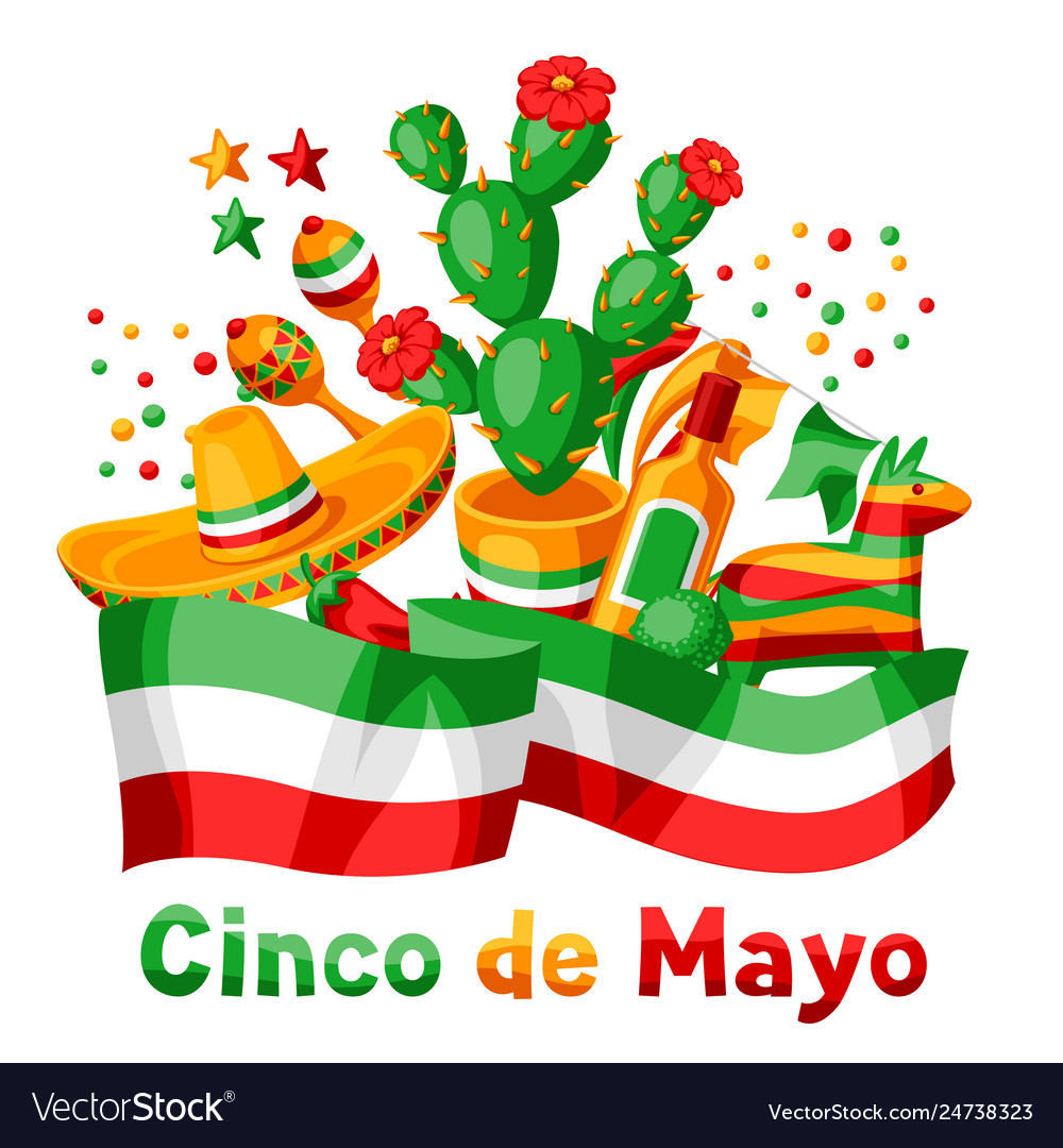 Mexican cinco de mayo greeting card