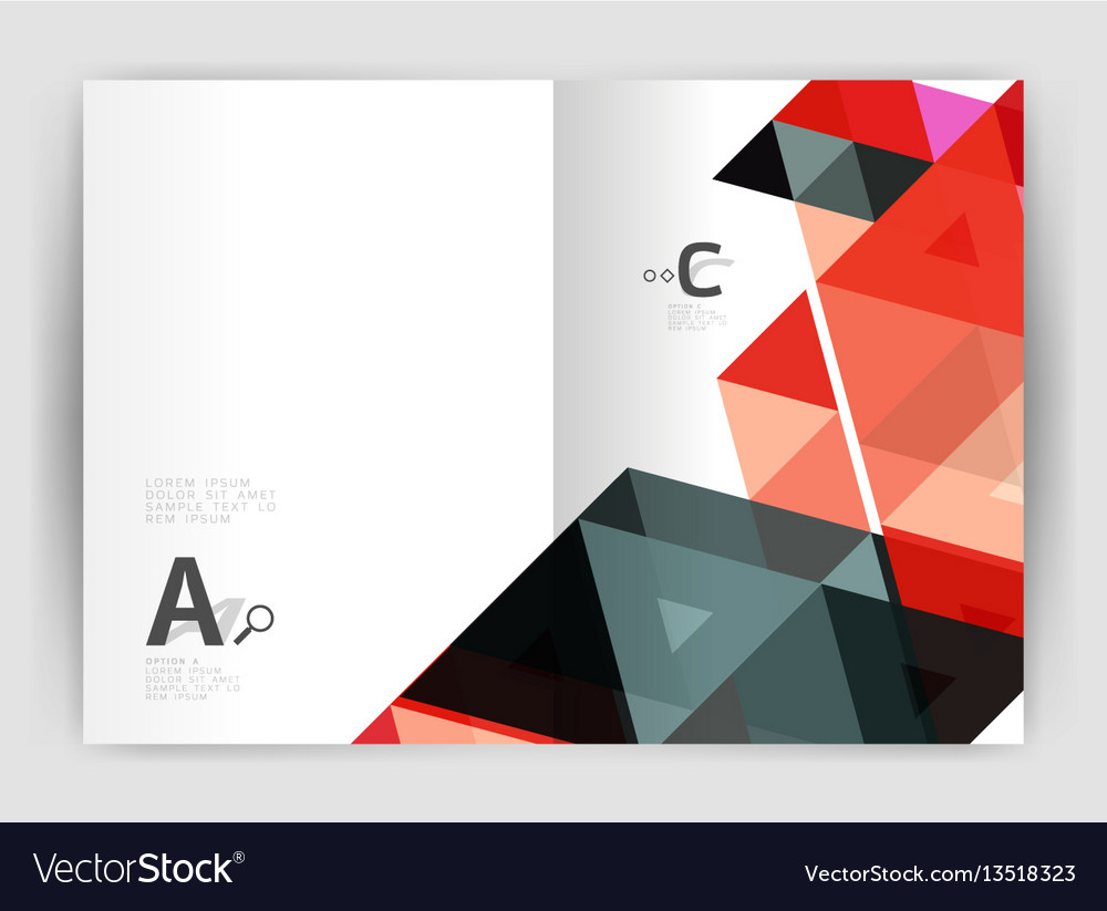 Mosaic triangle annual report template