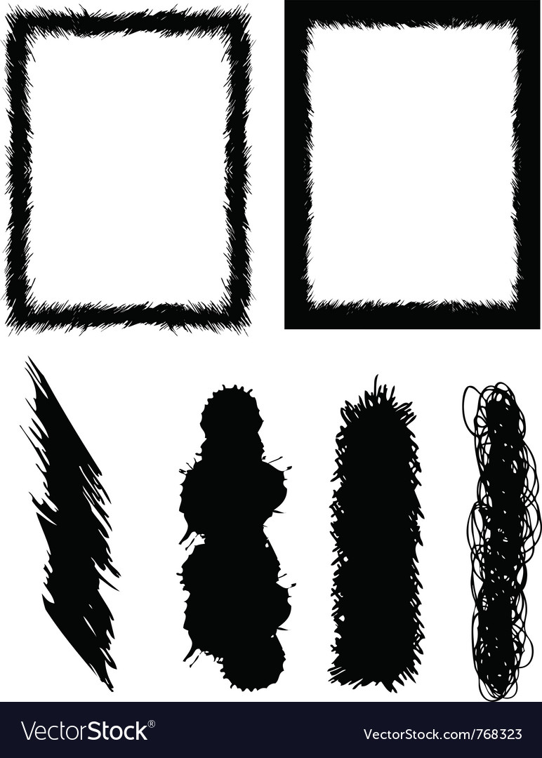 Set of banners brushes and frames