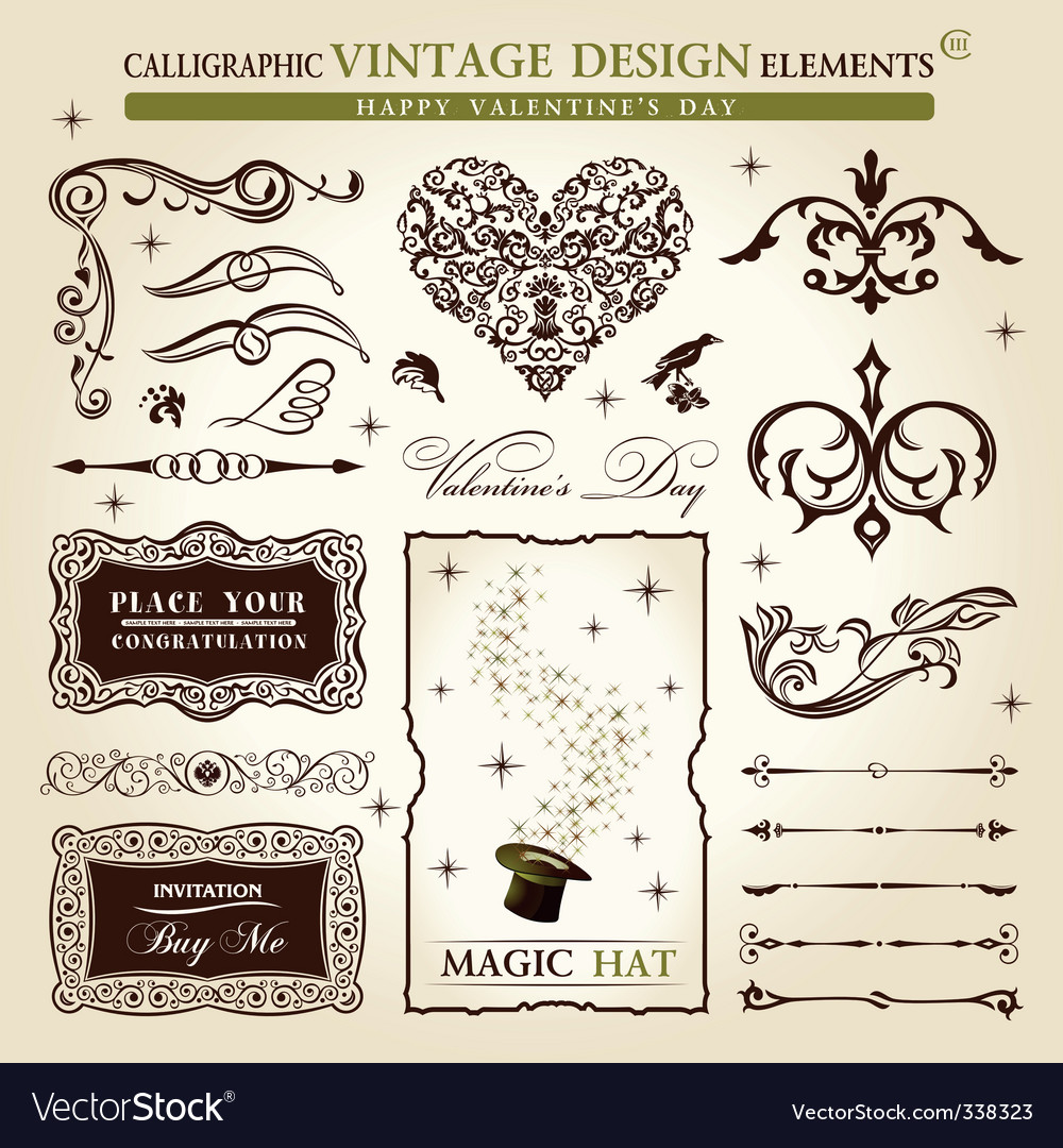 Vintage calligraphy vector image