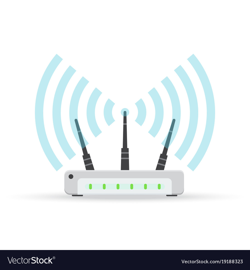 Wireless ethernet modem router sign Royalty Free Vector