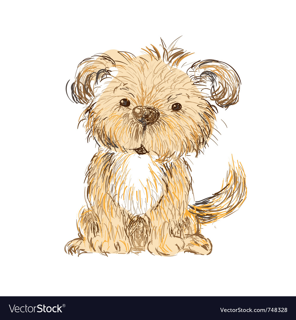 Dog isolated vector image