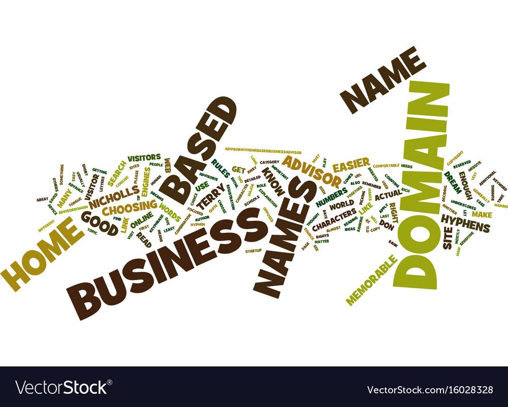 Good domain names make your dreams memorable text