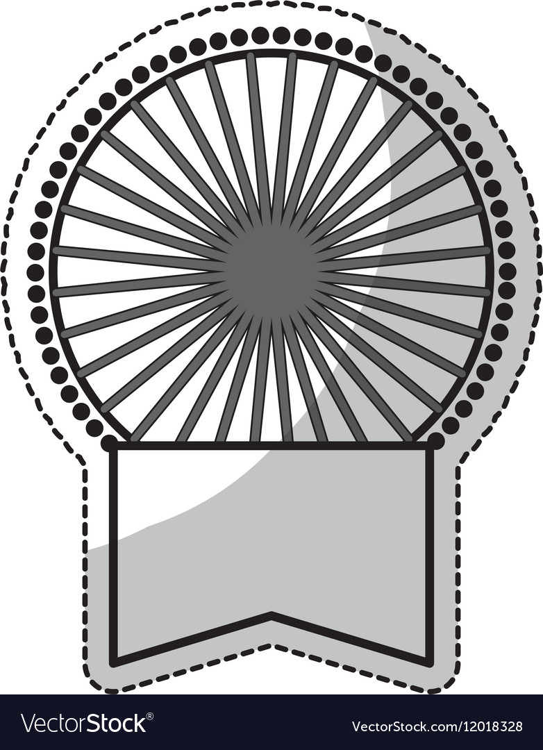 Medal with label icon vector image