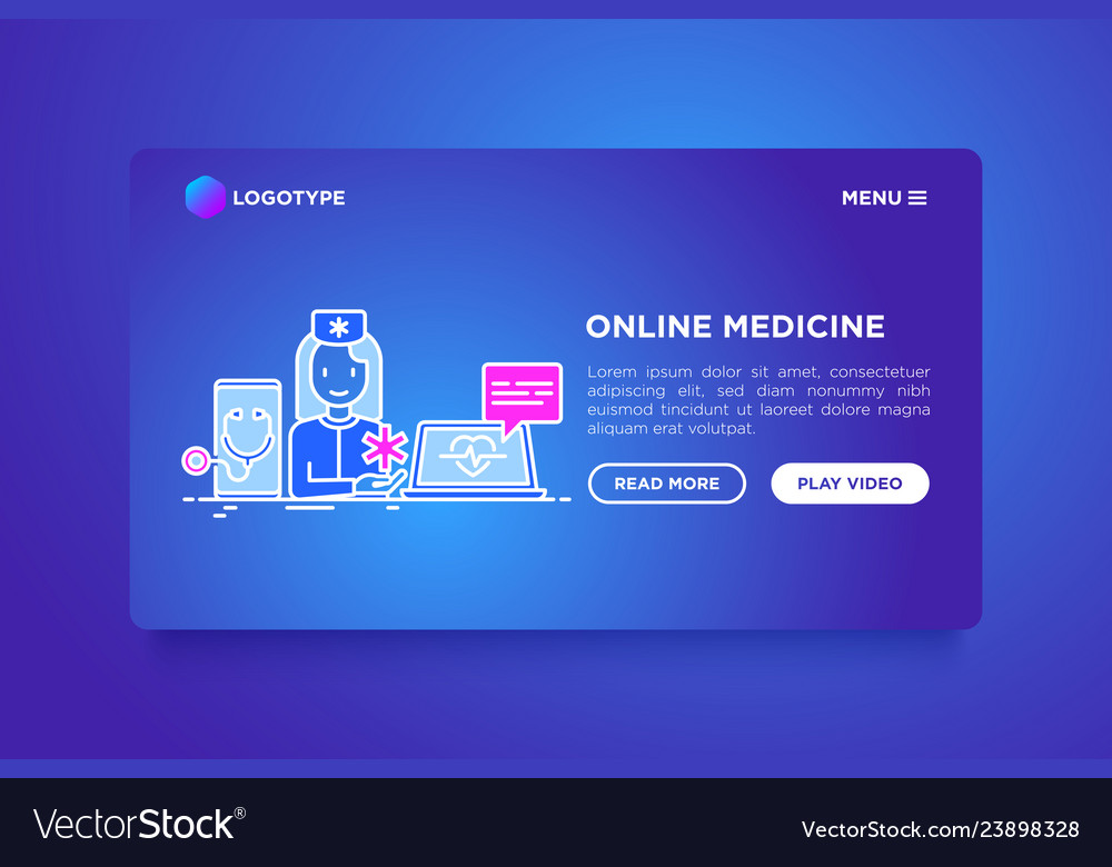 Online medicine doctor consulting by video call