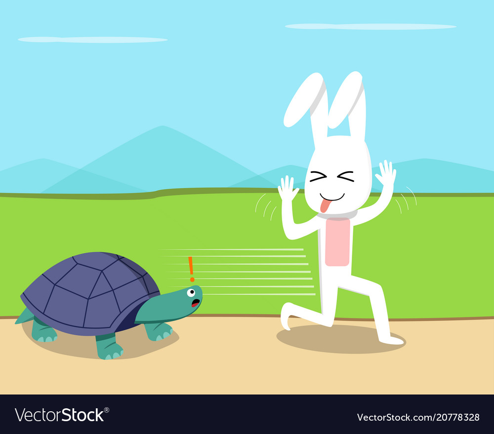 Rabbit ran over the turtle design