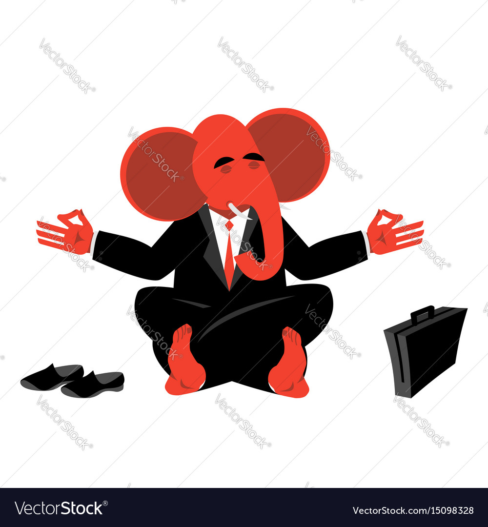 Red elephant republican meditating symbol of usa