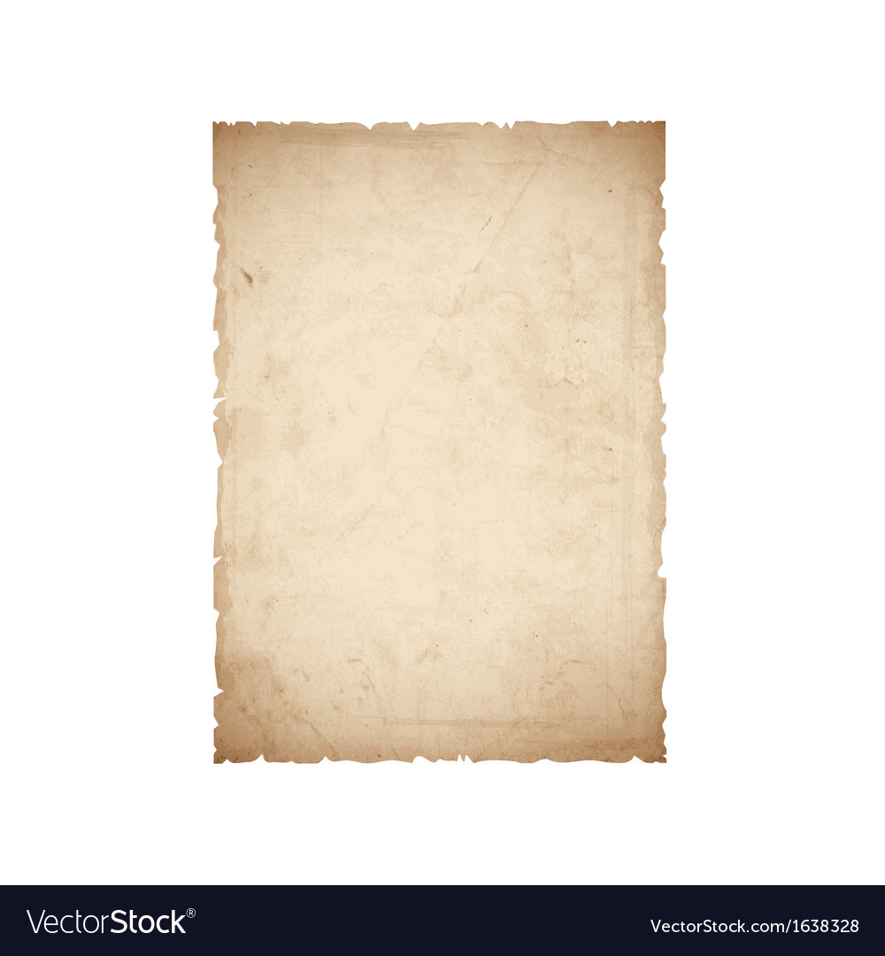 Sheet old paper vector