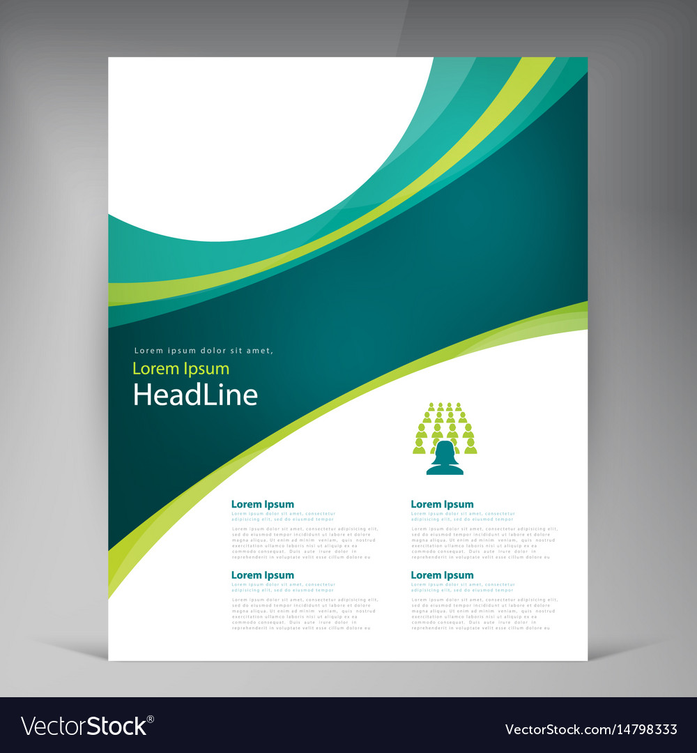 Abstract template design flyer cover with Vector Image