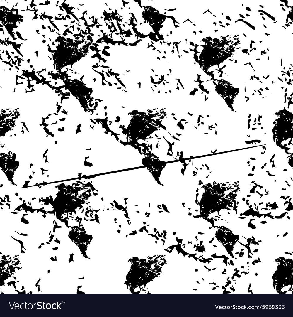 American continents pattern grunge monochrome