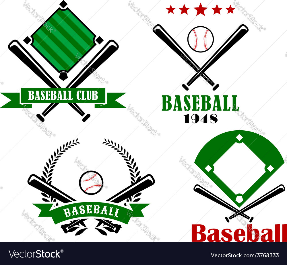 Baseball sporting emblems or badges