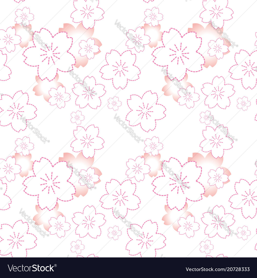 Cherry blossom and background pink flower