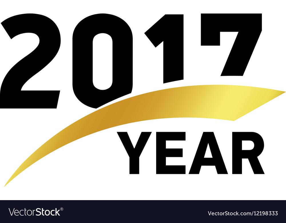 New year 2017 creative greeting card design xmas