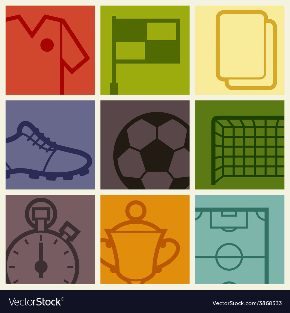 Sports background with soccer football symbols