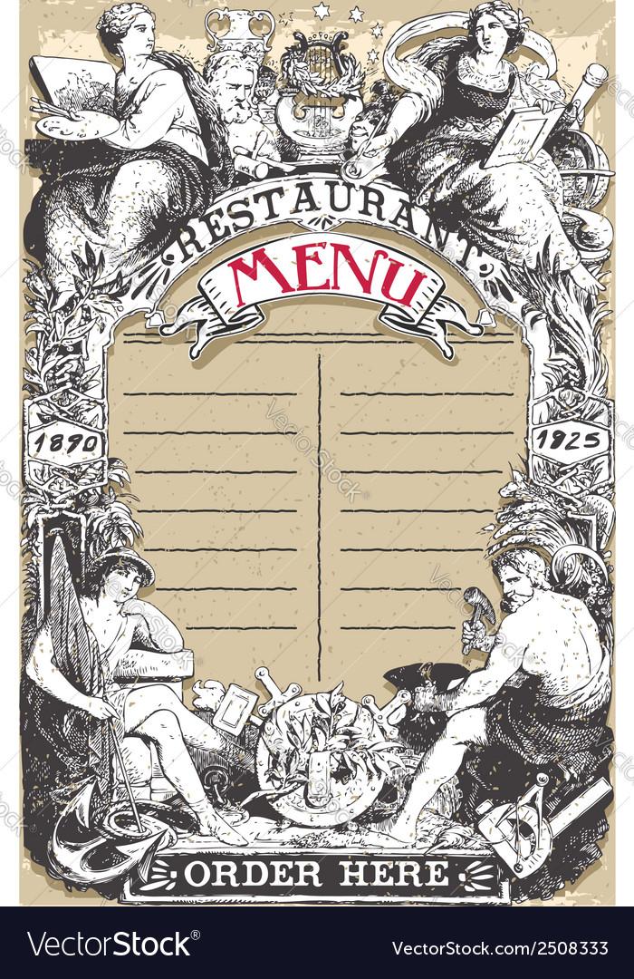 Vintage Page for Restaurant Menu