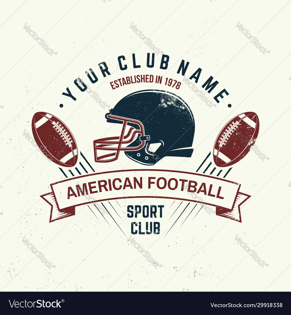 American football or rugclub badge vector