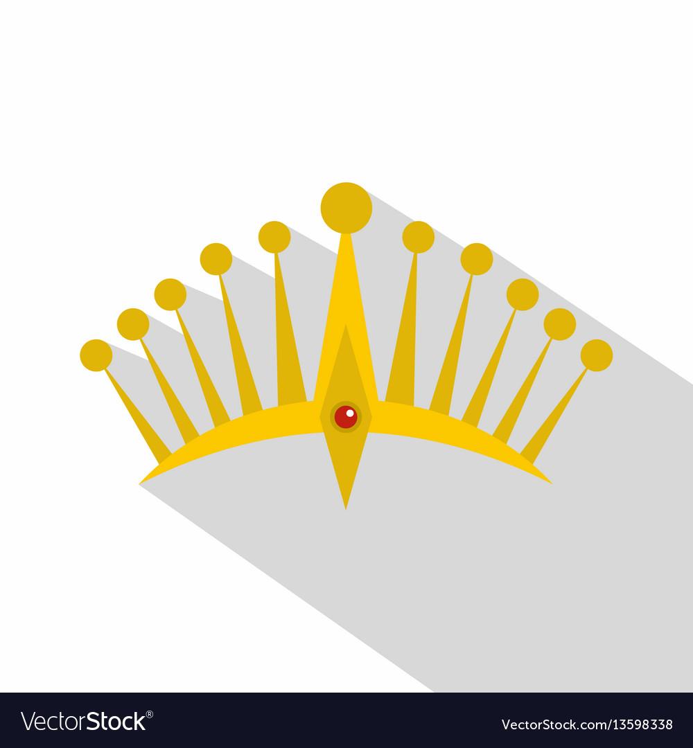 Big crown icon flat style
