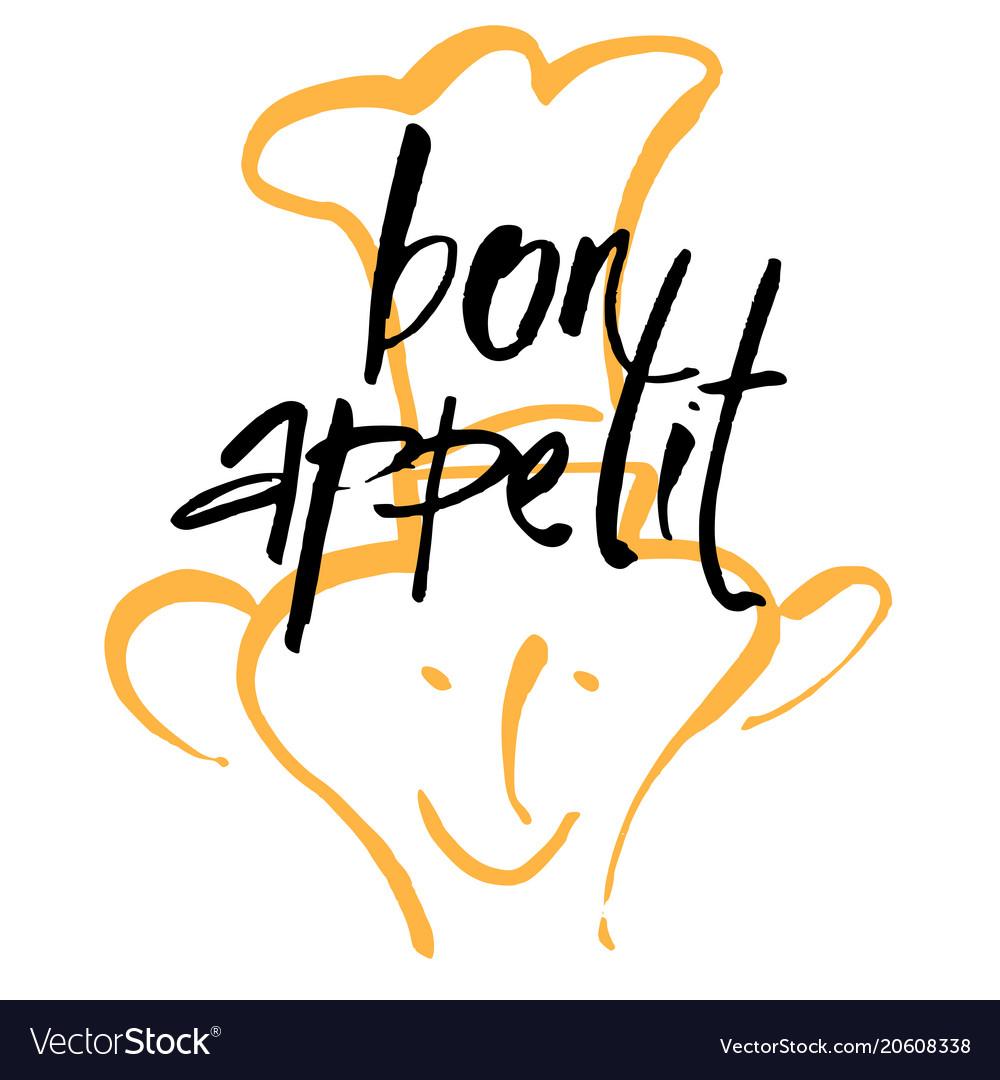 Bon appetit lettering template