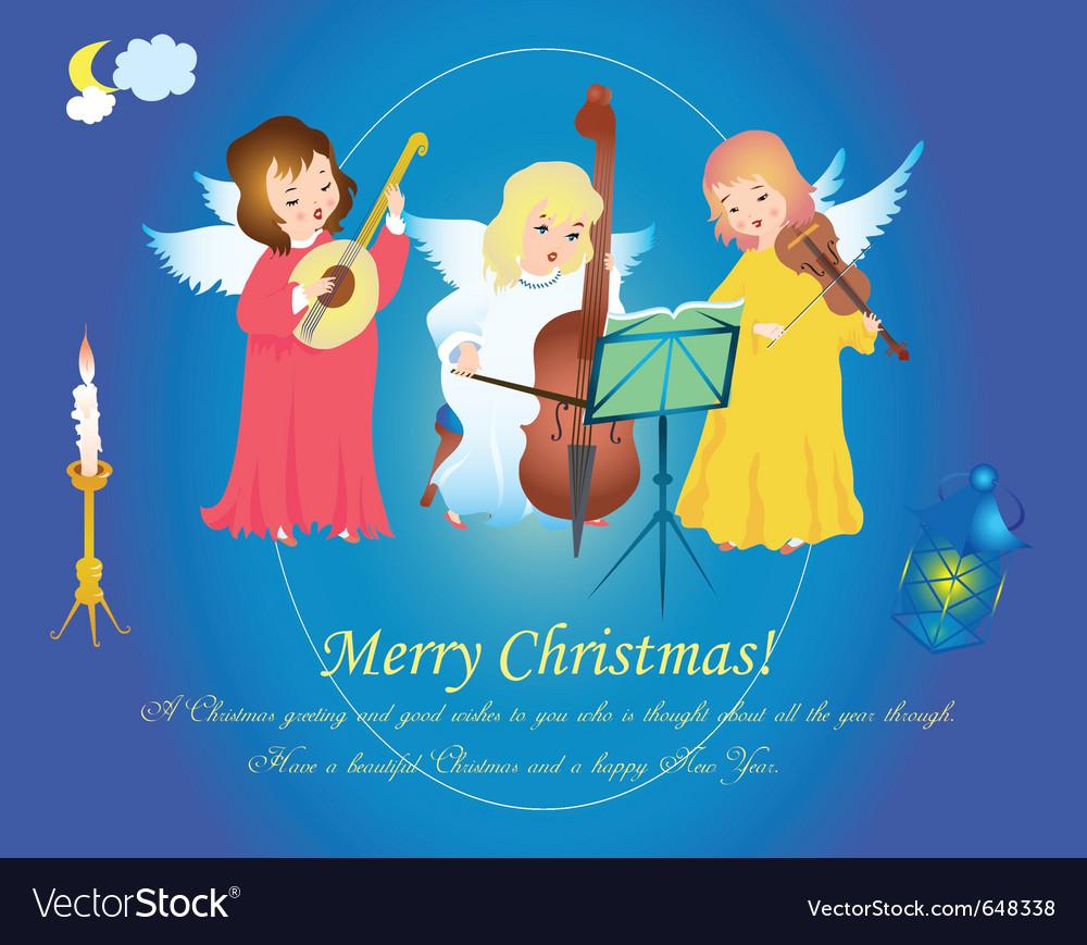 Christmas Angels.Christmas Angels Singing On Heaven