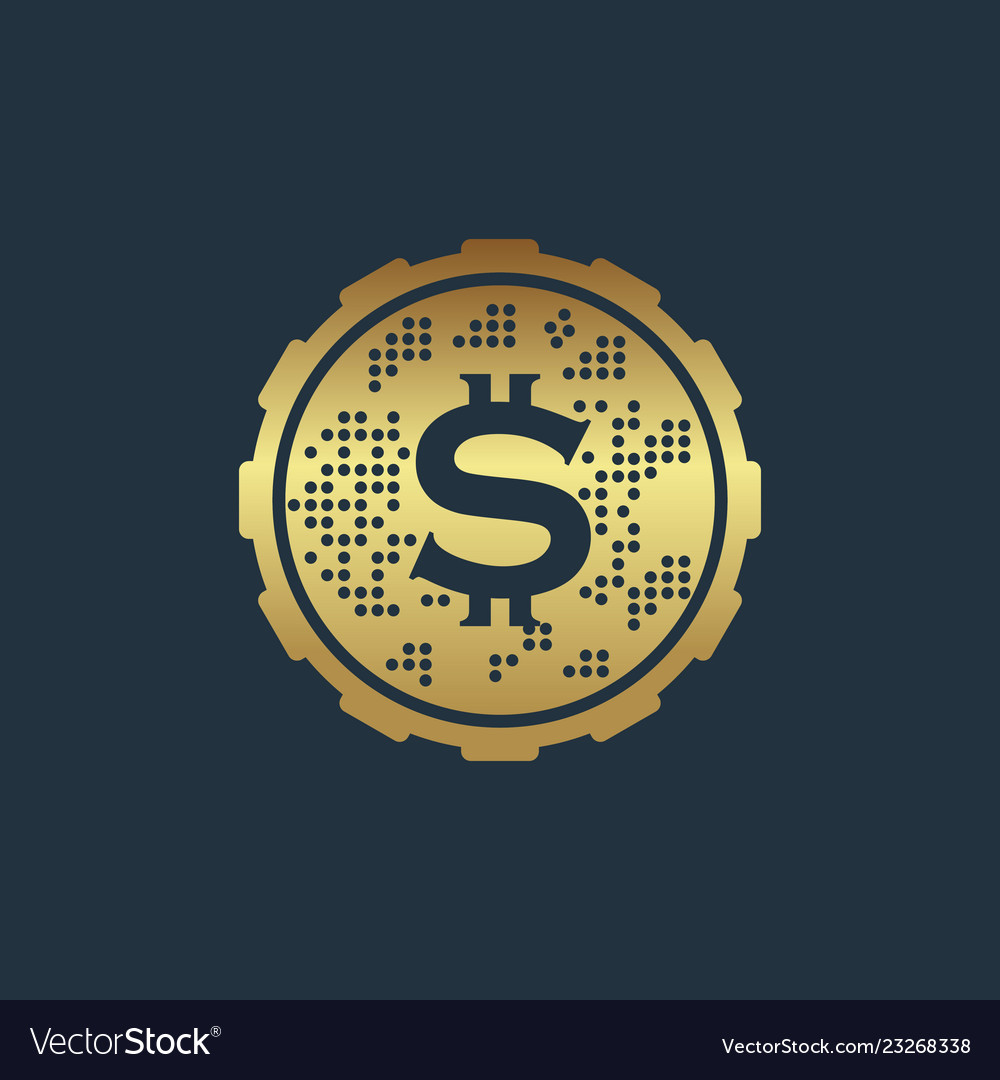 Coin design template icon