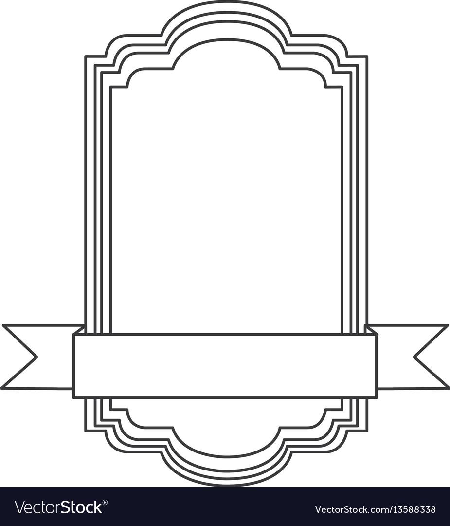 Figure square emblem icon vector image