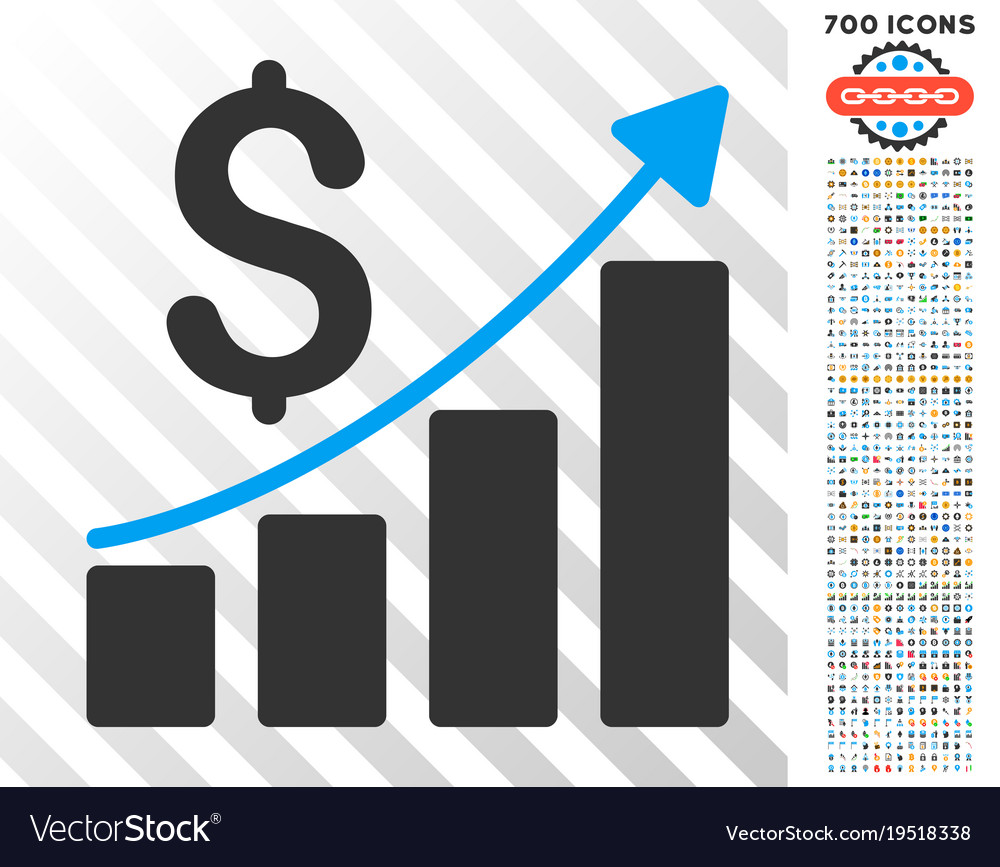 financial report flat icon with bonus royalty free vector