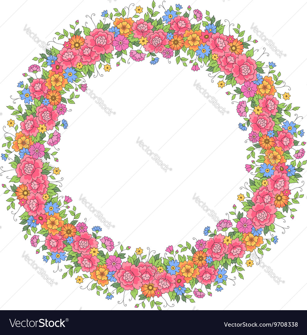 Floral design wreath vector image