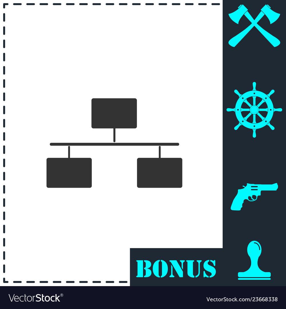 Flowchart icon flat