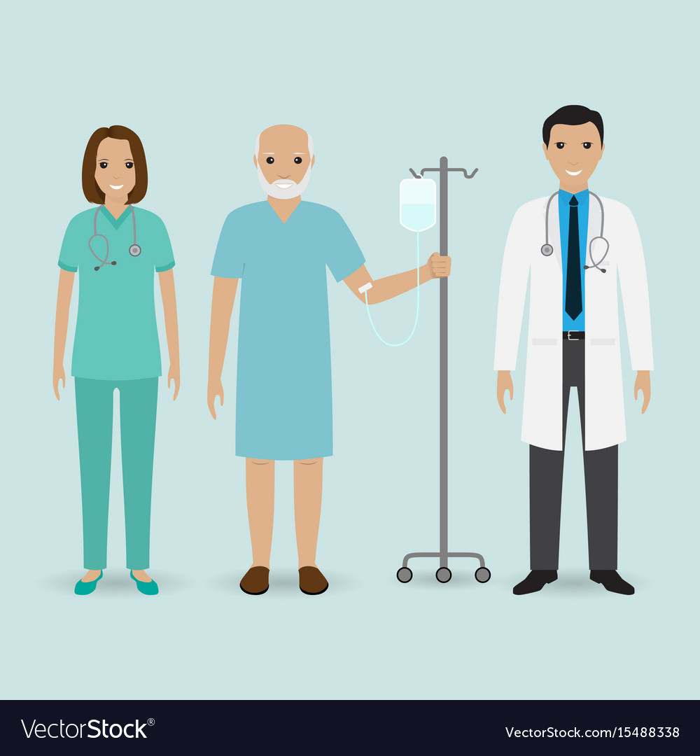 Hospital staff concept doctor nurse and senior