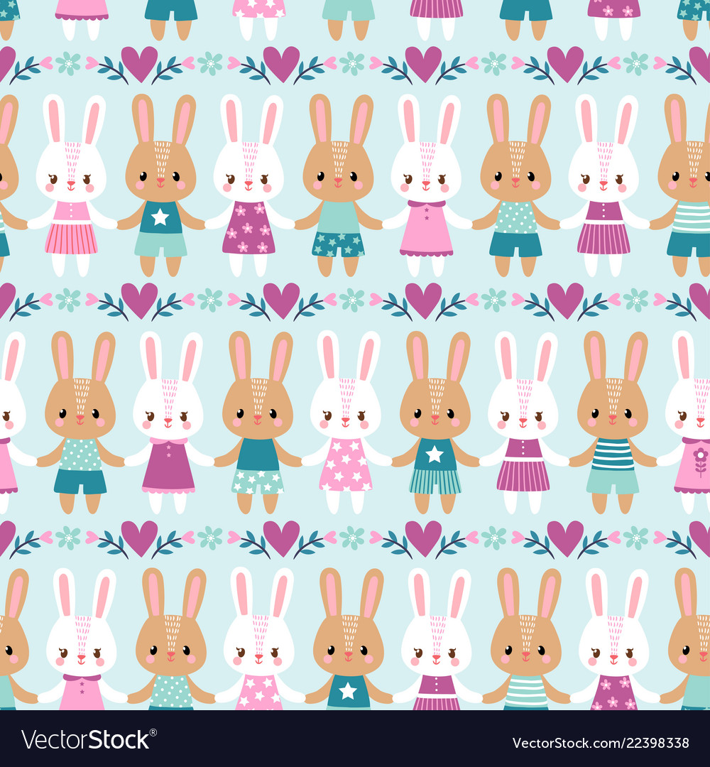 Seamless with rabbits