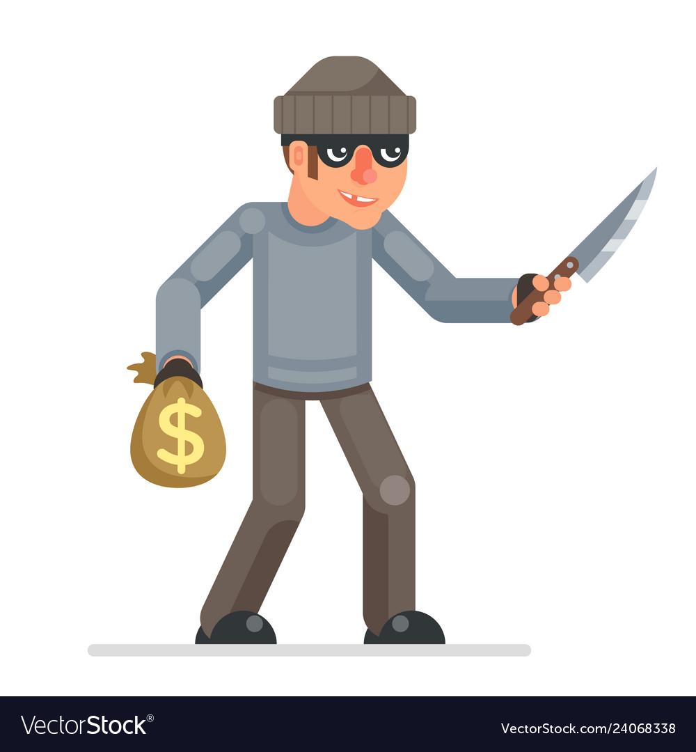 Threat violence evil greedily thief stole money