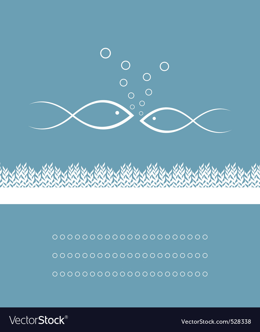 Two fishes vector image