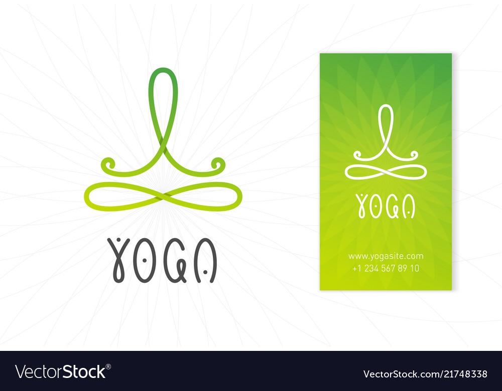 Yoga Studio Logo Design Template Royalty Free Vector Image