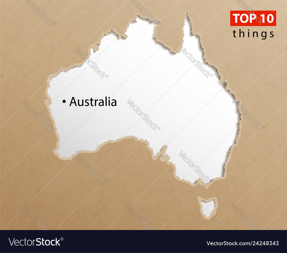 Australia Map Template.Australia Map On Craft Paper Texture Template For
