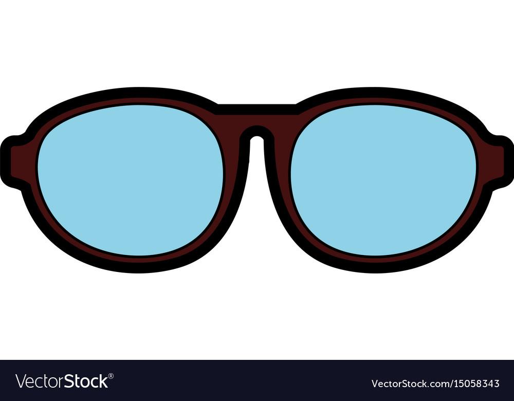 Cute brown glasses cartoon