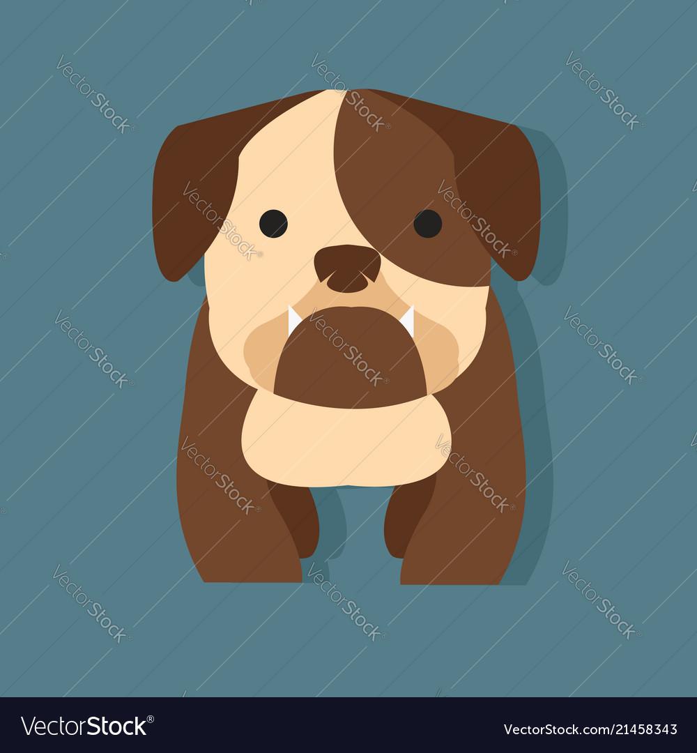 Cute bulldog flat style