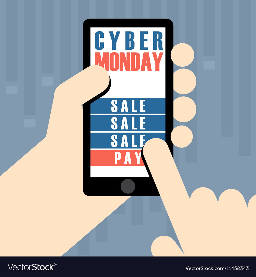 Digital cyber monday sale banner design