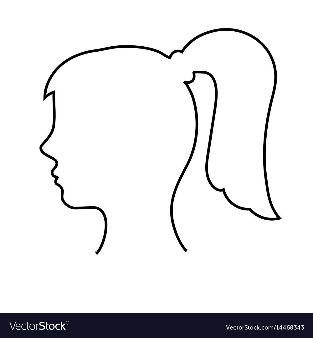 Empty womans head outline