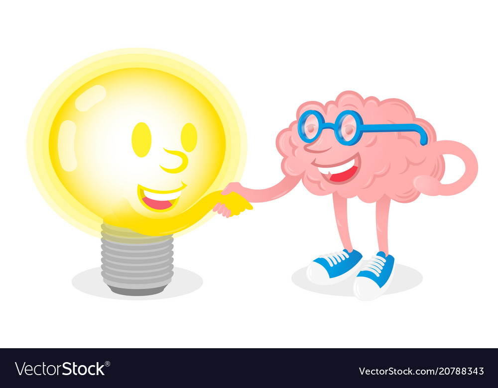 Friendship brain with lamp