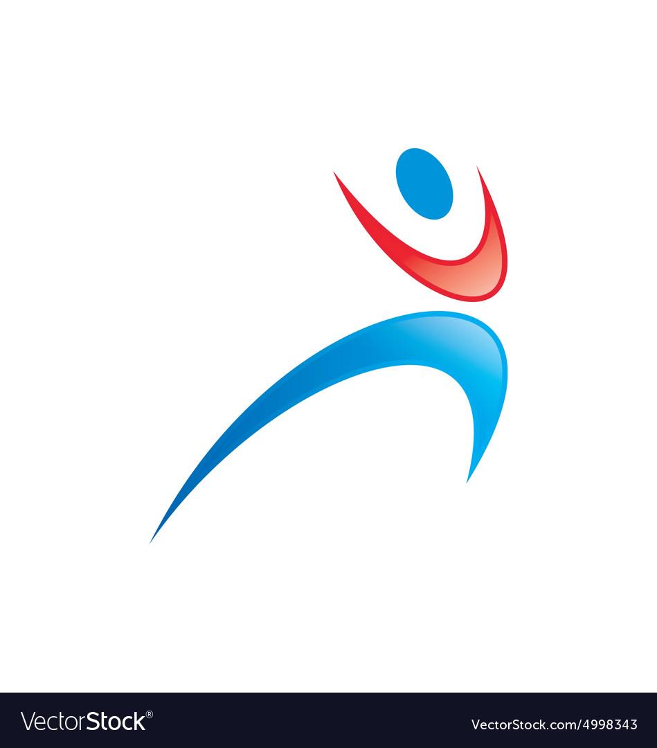 People icon sport yoga logo