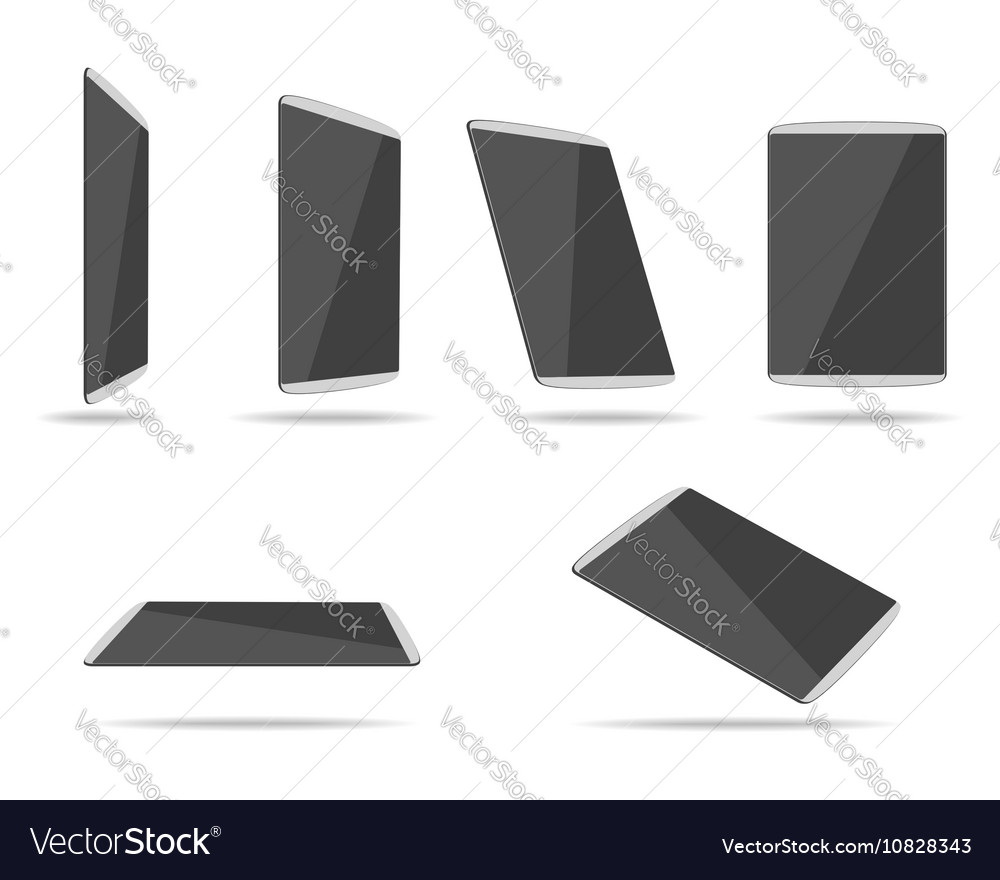 Tablet PC different foreshortening vector image
