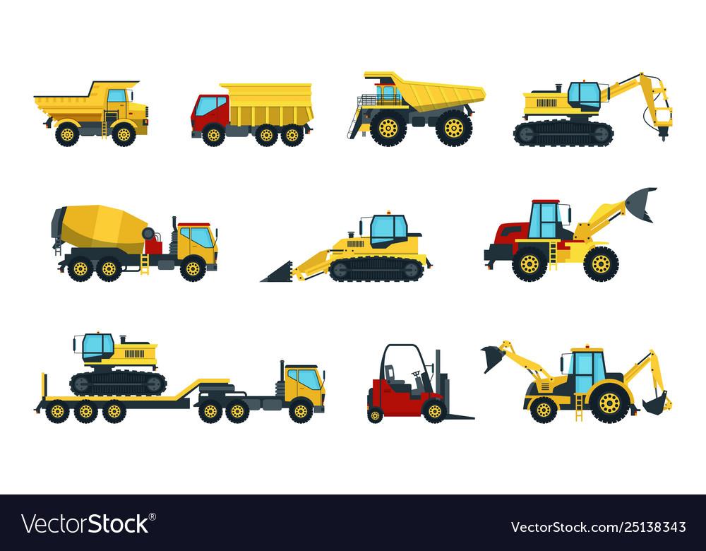 Truck bulldozer mixer roller dumper excavator