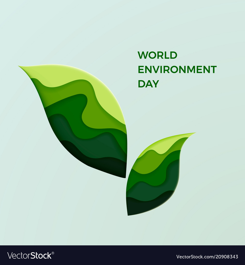World environment day couple of green leaves