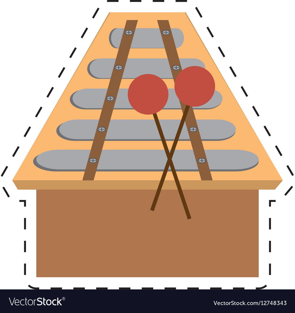Xylophone musical instrument percussion dotted vector image