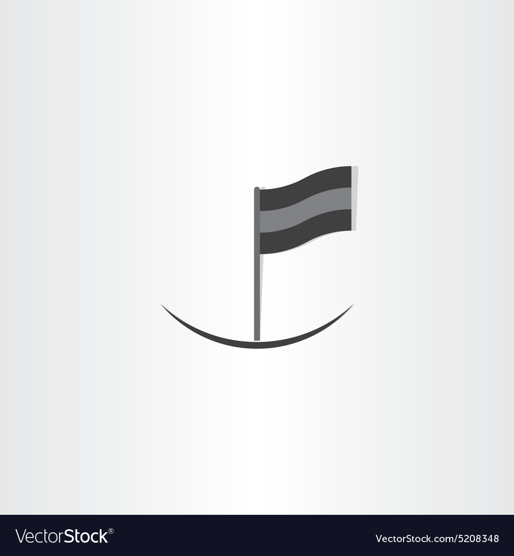 Abstract black flag icon