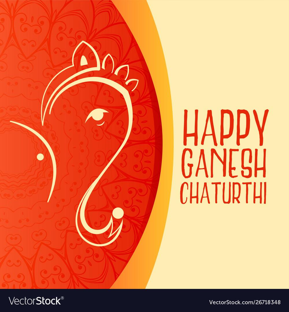 Beautiful greeting design for ganesh chaturthi