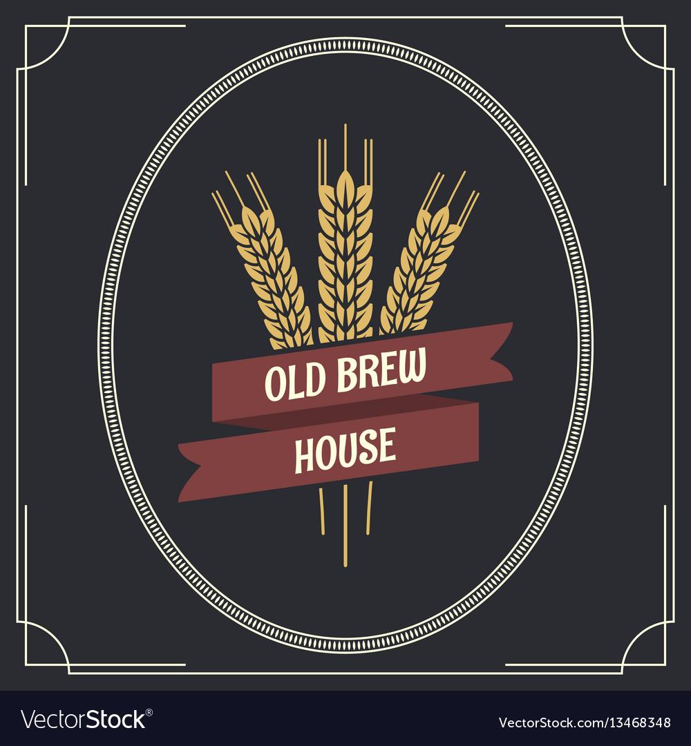 Beer vintage label logo background