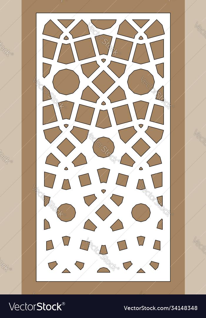 Cnc geometric template ratio 1 to 2 laser