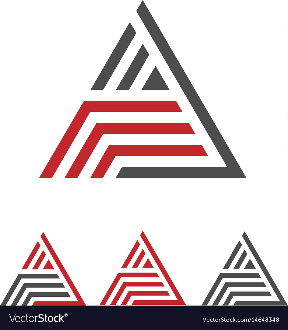 Creative letter a with stripes logo
